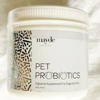 New- 4.4 oz Mayde Pets Probiotics Digestive Supplement  Exp. 07/2021 FREE SHIP
