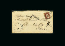 Us Stamp Used, Vg S#25 Aug.21,1857 Ny cancel, to Ormanghe, Iowa receiving mark,