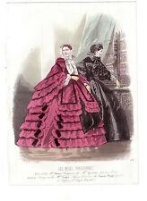 LES MODES PARISIENNES. GRAVURE DE MODE ANCIENNE ANNEE 1859. N° 878. REF 2774