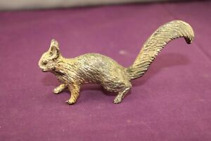 Miniature White Metal Squirrel