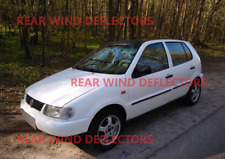 VW Polo mk3 5door hatchback 1994-2001 REAR set Wind Deflectors TINTED RAIN GUARD