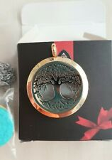 UBELIEVE 30MM Silver Perfume Diffuser Necklace Pendant  Aromatherapy Locket...