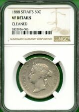 MALAYSIA  1888  50 CENT  NGC VF DETAILS  STRAITS SETTLEMENTS