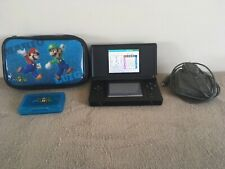 NINTENDO DS LITE BLACK CONSOLE + CHARGER + MARIO CASE IN LOVELY CONDITION WOW