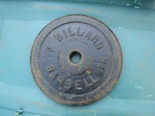 Lot of 1 - 25 lb Billard Standard Barbell Weight Plate