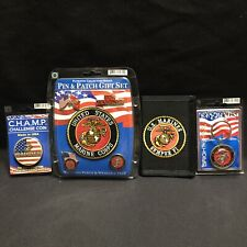 US Marines Pins Patch Key Ring Wallet Military Semper FI  Challenge Coin All New