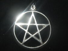 NEW LARGE 40MM WICCAN PAGAN FIVE POINTED STAR PENTAGRAM PENDANT CHARM NECKLACE