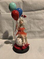 OOAK Hand Sculpted, Clown . Fairy.art Sculpture.