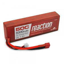 Dynamite Reaction 7.4v 5000mah 2S 50C Hardcase Lipo Battery Deans Ultra T Plug