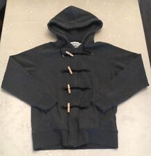 Mens Topman Grey Hooded & Zipped Jumper in Medium