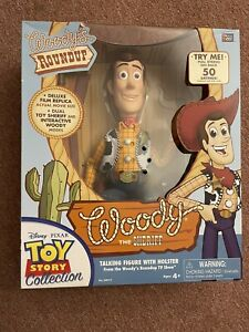WOODY The Sheriff- TOY STORY Woody's Round-Up Talking Pull-String Doll NEW