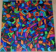 Abstrakte künstlerische Malerei mit Acryl-Technik von 1950-1999