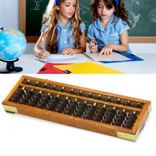 Japanese Soroban Abacus Wooden Frame Beads Classic Ancient Student Calculator