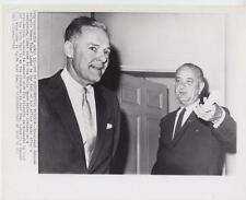 President Johnson escorts Henry Cabot Lodge to the door- 4/15/65 -Press Photo