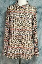 8b6abd087 Ariat Womens sz XL Blue Pink Aztec Southwestern Fitted Button Down Top