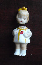 "Vintage 1920s Germany Miniature Girl Doll 1 3/4"" Tall"