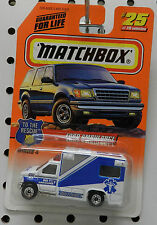 FORD AMBULANCE 911 TRUCK WHITE SERIES 4 TO THE RESCUE 25 1998 MB MBX MATCHBOX