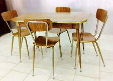 Tavolo sedie sedia table formica marrone design anni '50 vintage modernariato