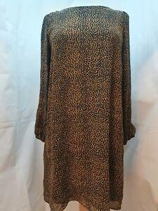 Ladies Emme Marella Leopard Print Chiffon Dress Tunic UK Size 12