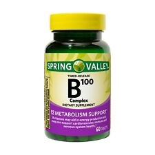 Spring Valley Timed-Release B100 Complex Tablets, 60 Count