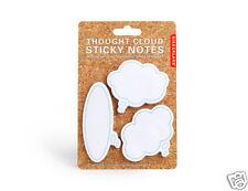 Kikkerland Thought Clouds Sticky Notes 3 Size pads