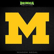 "Michigan Wolverines - NCAA - Yellow Vinyl Sticker Decal 5"""