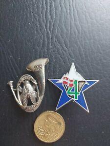 2  Insignes Militaire dont chasseurs alpins matriculé
