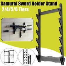 More details for 1/2/3/5/6 tier wall mount samurai sword katana holder stand hanger bracket rack