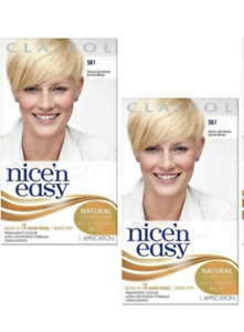 2 x Clairol Nice & Easy SB1 Natural Light Neutral Summer Blonde