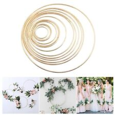 Gold Metal Ring Wreath Garland DIY Bouquet Flower Party Easter Decor Baby Shower