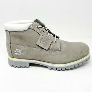 Timberland Mens Waterproof Chukka Aluminum Nubuck Gray Boots 23097