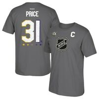 Carey Price 2017 NHL All Star LA Official Player Jersey Grey T-Shirt Men's