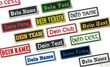 Namensschild Aufnäher m. Wunschtext gestickt 10x3 Rockabilly Punk Club Patch MF