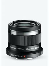 Olympus M.Zuiko Digital 45mm 1:1.8 lens, NEW* Black ver. Boxed, fits M4/3 camera