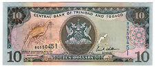 **  TRINIDAD & TOBAGO     10  dollars   2002   p-43b    UNC   **