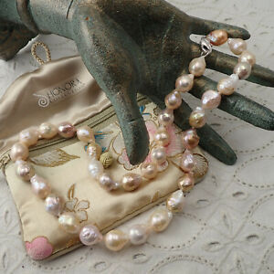 """Honora Cultured 12 - 15 mm Baroque Ming Pearl Sterling Silver Clasp 20"""" Necklace"""
