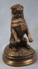 Mops original signiert Mene hund bronze bronzefigur pug