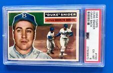 1956 Topps Duke Snider PSA Graded 6 Excellent - Mint