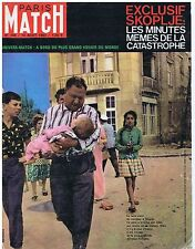 COUVERTURE DE MAGAZINE PARIS MATCH 748 10/08/63 Skoplje la catastrophe