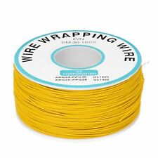PCB Solder Yellow Flexible 0.25mm Core Dia 30AWG Wire Wrapping Wrap 820Ft  DT