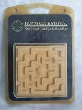 7.5cm Winther Browne Mouldings 4 Carvings SPOT AZTEC Compressed FLEXIBLE Wood