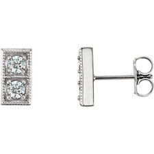 Diamond Two-Stone Earrings In Platinum (3/8 ct. tw