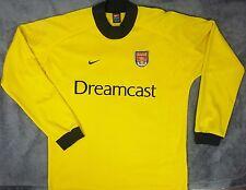 Nike ARSENAL 2000/02 Goalkeeper Soccer Jersey Football Shirt Dreamcast L Yellow