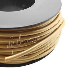 1 metro CORDONCINO CORDA forata ORO METALLIZZATO pvc 4 mm gold hollow cord