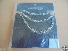 Next accessoires bijoux: collier lourd couleur argent nouvelle marque