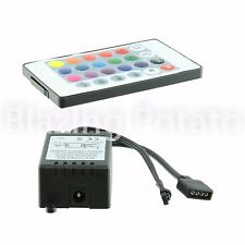 RGB LED Controller with 24 Key IR Remote for RGB SMD 5050 3528 LED Strip ☆USA☆