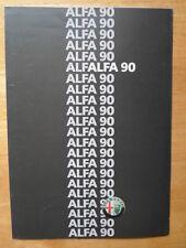ALFA ROMEO 90 Range 1986 UK Market Sales Brochure