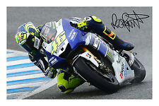 Valentino Rossi 2013 Signed Autograph Photo Print MotoGP Yamaha Poster