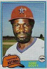 1981 Topps Tony Scott #828 Baseball Card