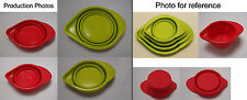Silicone Collapsible Measuring Cup 4pcs set Green Red Baking  Kitchenware